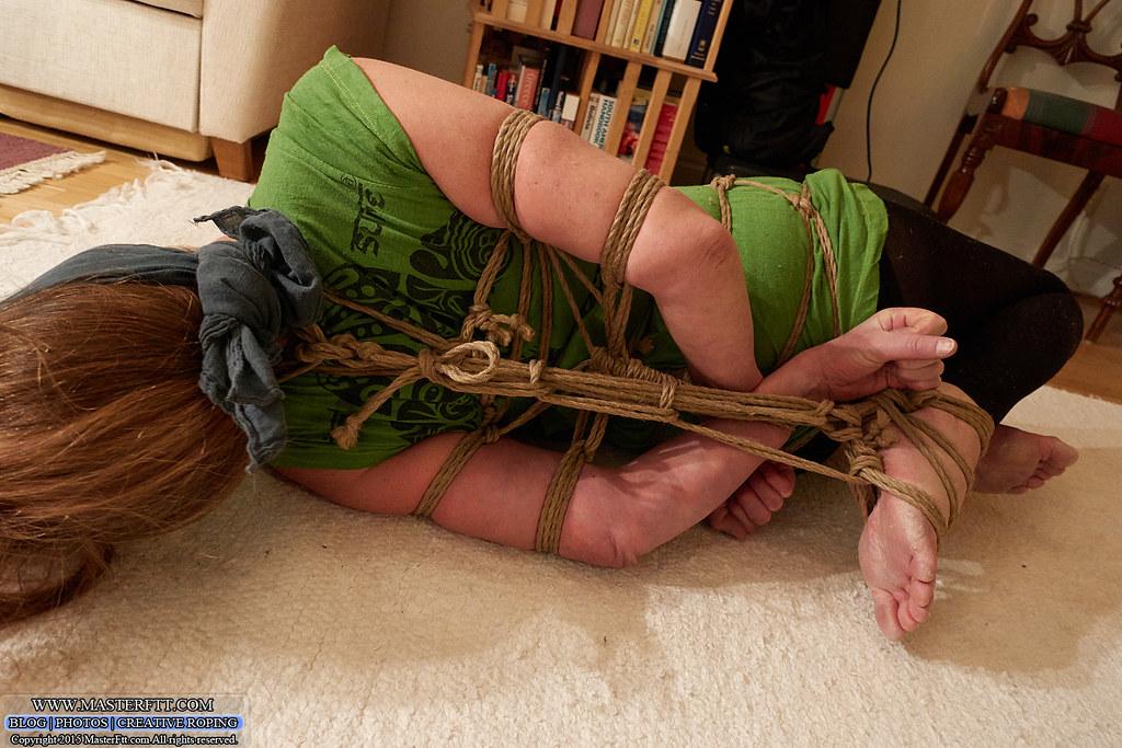 Bondage straps hogtied and gagged mamy want