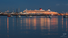 RMS Queen Mary 2 (3dbrenton) Tags: winter england river season unitedkingdom dusk hampshire gb bluehour queenmary2 temporal oceanliner southernengland southamptonwater watervessel newforestdistrict