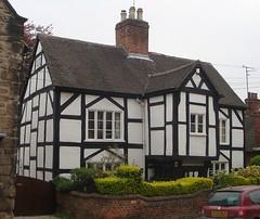 [39422] Repton : Tudor Lodge (Budby) Tags: house blackwhite derbyshire 16thcentury timbered repton