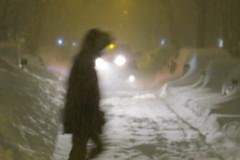 Blizzard, Astoria, New York (lotos_leo) Tags: street city winter people snow ny newyork blur outdoor streetphotography astoria blizzard jonasstorm
