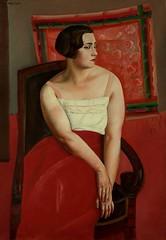 Jeune Femme (Young Woman), 1920s // By Boris Grigoriev (mike catalonian) Tags: 1920s portrait female painting russia fulllength ussr xxcentury borisgrigoriev