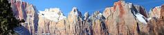 Zion (Starrgalla) Tags: park trees cliff mountain mountains tree nature beautiful rock utah rocks cliffs zion geology