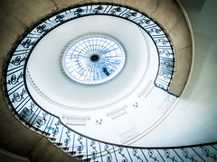The Nelson Staircase (Sean Batten) Tags: england london architecture spiral nikon unitedkingdom wideangle somersethouse gb d800 1424 nelsonstaircase