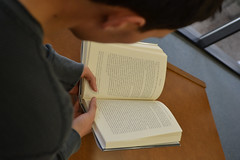 Reading (alexiscooperphotography) Tags: boy portrait macro college book library indoors learning collegelife nofilter lovelife noedits collegeboy creativephotography creativeportrait readytolearn nikond3100