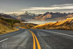 Road to paradise (Big_Joker) Tags: road park new newzealand mountain lake snow canon landscape photography eos is nationalpark mark iii cook glacier mount trail zealand national ii valley lane summit mtcook 5d usm tasman hooker lakepukaki mountcook aoraki pukaki bgs ef70200mm f28l 500px canoneos5dmarkiii ef70200mmf28lisiiusm bgsphotography bgspix