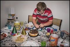 Ben cutting Pa some birthday cake-1= (Sheba_Also 11,000,000 + Views) Tags: birthday cake ben some pa cutting
