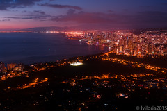 Blue Diamond (Aiganaiguy) Tags: longexposure mountain nature landscape hawaii waikiki hiking crater diamondhead nightlife bluehour goldenhour