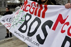 McGill BDS launch, 1/4/2016 (mcgilldaily) Tags: montreal daily activism mcgill boycott bds sanction divest