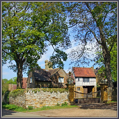 The Plot Thickens...... (Jason 87030) Tags: uk greatbritain trees light summer england building history stone wall architecture canon square village unitedkingdom gates northamptonshire guyfawkes may sunny scene historic parliment guido plot gunpowder leger manorhouse gatehouse 2015 ashbystledgers robertcatesby northanst