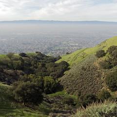 Valley View (LeftCoastKenny) Tags: trees grass clouds square haze hills sierravistaopenspacepreserve boccardolooptrail