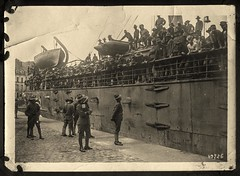 Troop ship review (Madison Historical Society) Tags: old people history museum outside boat photo interesting flickr ship exterior shot image outdoor connecticut military country wwi picture newengland ct places scene scan worldwari madison historical greatwar groupshot scenes firstworldwar route1 mhs photoalbum conn bostonpostroad madisonhistoricalsociety connecticutscenes madisonhistory bobgundersen