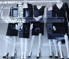 What a deal. (ktmqi) Tags: charity newyorkcity mannequin fashion shopping store chelsea bargain littleblackdress displaywindow 17thstreet womenswear angelstreetthriftstore