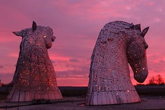 Kelpies at sunrise (cocopie) Tags: clouds sunrise clyde canal forth helix kelpies