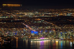 Vancouver on a clear night from Grouse Mountain. (Spencer Finlay) Tags: nightphotography mountain cityscape skiing britishcolumbia resort grousemountain explorecanada insidevancouver photos604