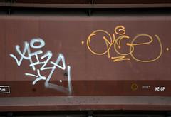 graffiti on freights (wojofoto) Tags: holland amsterdam graffiti nederland netherland freighttrain cargotrain freighttraingraffiti wolfgangjosten omce wojofoto vrachttrein