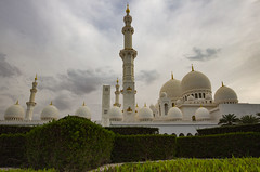 Zayed Grand Mosque (Ali Sabbagh) Tags: world travel wallpaper sky color architecture canon landscape uae grand mosque zayed abudhabi marble sheikh eos7d sheikhzayedmosque