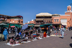 street sellers and cafes (tattie62) Tags: travel people tourism places morocco djemaaelfna marrakeck