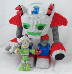 Monster Tale Robot Doll (merigreenleaf) Tags: doll plushie amigurumi gaming nintendo nintendods videogame crochet crocheted plush handmade monstertale robot