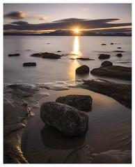 Sunburst (Rainmaker Photography) Tags: uk longexposure sunset scotland sunburst arran ayrshire seamill formatt bwfilters hitechfilters sonya7rcanon1740lmetabonesiv