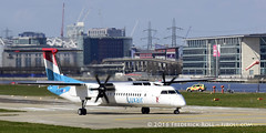 Luxair DHC Dash 8 ~ LX-LGN ( Freddie) Tags: london londoncityairport newham e16 lcy royaldocks eglc runway27