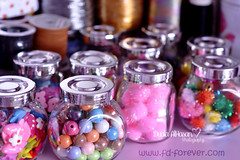 My Pretty Little Treasures!  (Miss.Dua'a) Tags: pink cute glitter beads rainbow colorful handmade girly sewing crafts balls craft things cotton ornaments stuff kawaii crafty bows