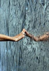 Touch (wentloog) Tags: uk sky reflection art wales sunrise canon eos dawn hand centre touch fingers watertower cymru cardiff millennium doctorwho caerdydd 5d drwho publicart cardiffbay roalddahl canoneos5d williampye torchwood wentloog stevegarrington