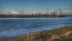The new River Mersey crossing construction site (Keo6) Tags: