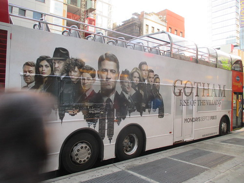 Gotham Rise of Villains Double Decker Bus Billboard AD 3407