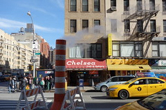 201603092 New York City Chelsea (taigatrommelchen) Tags: street city nyc newyorkcity urban usa ny newyork chelsea manhattan cab taxi icon 20160310
