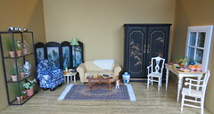 17. Asian Inspired Barbie Living Room (Foxy Belle) Tags: inspiration scale asian living miniature doll room barbie 16 diorama dollhouse