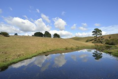 Vastness (St./L) Tags: blue sky cloud white reflection nature water yellow clouds relax landscape pond nikon artistic wide creative harmony imagination visualart vastness