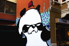 Lunatic Panda (kaizerdar) Tags: street streetart art wall painting graffiti panda culture istanbul fez turkish pera beyolu leolunatic