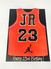 Basketball Jersey Cake (tasteoflovebakery) Tags: birthday red basketball cake air jordan jersey