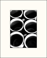 6 cups (Bob R.L. Evans) Tags: coffee pattern drink circles symmetry unusual cures ipadphotography defamilarization
