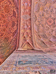Up (aliabdullah.176) Tags: pakistan heritage architecture arches mosque symmetry historical khan t3i mughal wazir oldlahore