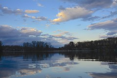 Blue Skies and Lake (anne.sundstrom) Tags: blue reflection nature beauty newjersey nj tranquil passaiccounty