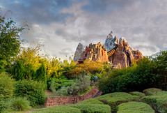A Sunset On Everest (Michael Billick) Tags: photography orlando nikon florida disneyworld wdw waltdisneyworld resorts everest kissimmee hdr animalkingdom rollercoasters expeditioneverest amusementparks disneyparks nikond810 disneyphotography disneyphotoblog