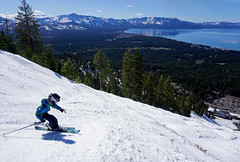 Gunbarrel, Good Friday after school (benjaminfish) Tags: lake snow ski march tahoe heavenly gunbarrel 2016