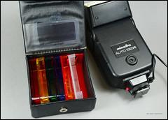Minolta Auto 132X Flash Filter Set (01) (Hans Kerensky) Tags: auto color set minolta box flash filter electro 128 132x