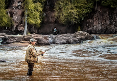 Trout Fisherman (Forrest Pearson) Tags: river fishing trout minnesotaspringwaterfalls