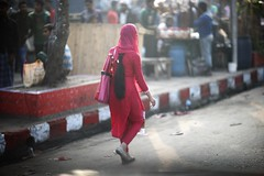 Remnants of a Winter Morning (N A Y E E M) Tags: street morning winter light red girl windshield bangladesh chittagong younglady norahmedroad