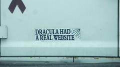 dracula had a real website (timp37) Tags: music real sticker dracula bumper american website had 2016