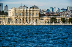 The palace (Melissa Maples) Tags: blue water turkey nikon asia trkiye istanbul palace nikkor strait bosphorus vr afs  karaky goldenhorn dolmabahe 18200mm  f3556g  18200mmf3556g d5100