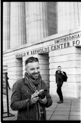JoeM6SummaritTri-X466_edited-1 (Johnny Martyr) Tags: leica portrait blackandwhite bw film smile 35mm happy washingtondc smithsonian dc districtofcolumbia photographer kodak bokeh candid trix hc110 rangefinder kodaktrix passerby nationalportraitgallery summarit leitz hc110b joepasco leitz5cm15summarit joeypasco josephapasco