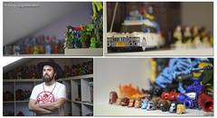 The collector. (Lidia Aparicio Sales) Tags: man love toys person persona geek amor character collection robots superheroes hombre juguetes collector personaje coleccin friki quantity cantidad figuritas wwwlabrigadagraficacom wwwasharydigitalartcom