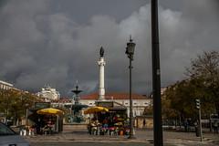 Lisbon, Portugal (Nadialeesi) Tags: city trip travel light sky urban sun sunlight colors beauty rain architecture clouds canon outdoors eos europe cloudy lisbon naturallight rossio potugal urbanbeauty travelphotography wonderlust eos7d canoneos7d