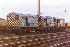 EWS BLUE LIVERIED WITH TRANSRAIL LOGO 08910 + 08561 + 08881 (bobbyblack51) Tags: blue english electric yard all br diesel transport class 1997 ayr types 08 060 livery falkland shunter ews of transrail 08910 08881 08561