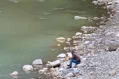 Lonely - (rotraud_71) Tags: man river lonely otw