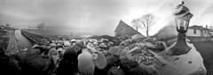 Fairlie Rain Dodging (wheehamx) Tags: 35mm angle wide pinhole blend ayrshire fairlie