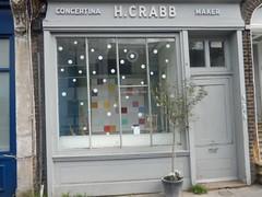 H. Crabb Concertina maker (mtrank) Tags: shop artist shops islington concertina 158 timwheeler liverpoolroad concertinas henrycrabb lesliecrabb